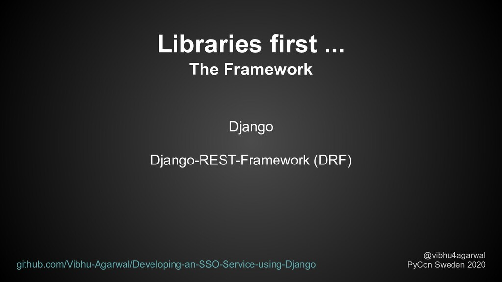 Django Django-REST-Framework (DRF) Libraries fi...