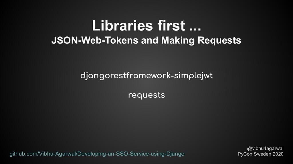 djangorestframework-simplejwt requests Librarie...