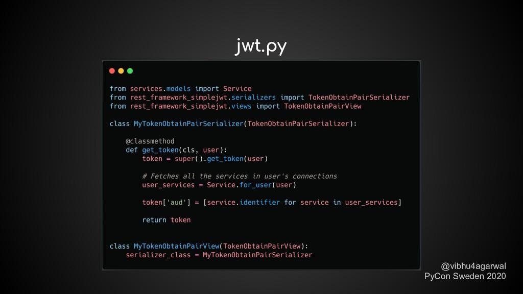 jwt.py @vibhu4agarwal PyCon Sweden 2020