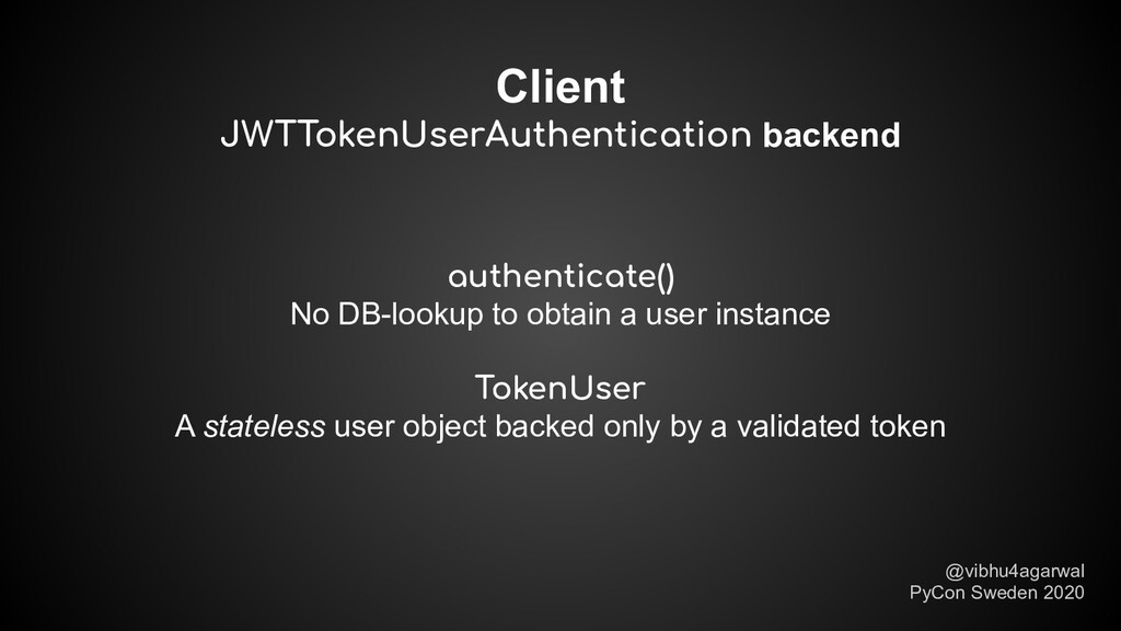 Client JWTTokenUserAuthentication backend @vibh...
