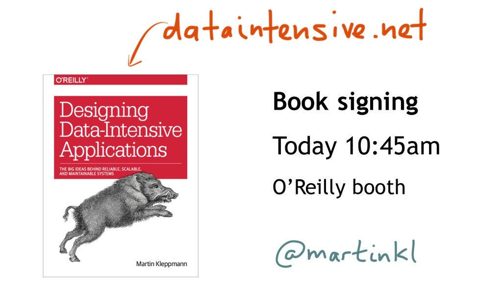 Book signing Today 10:45am O'Reilly booth