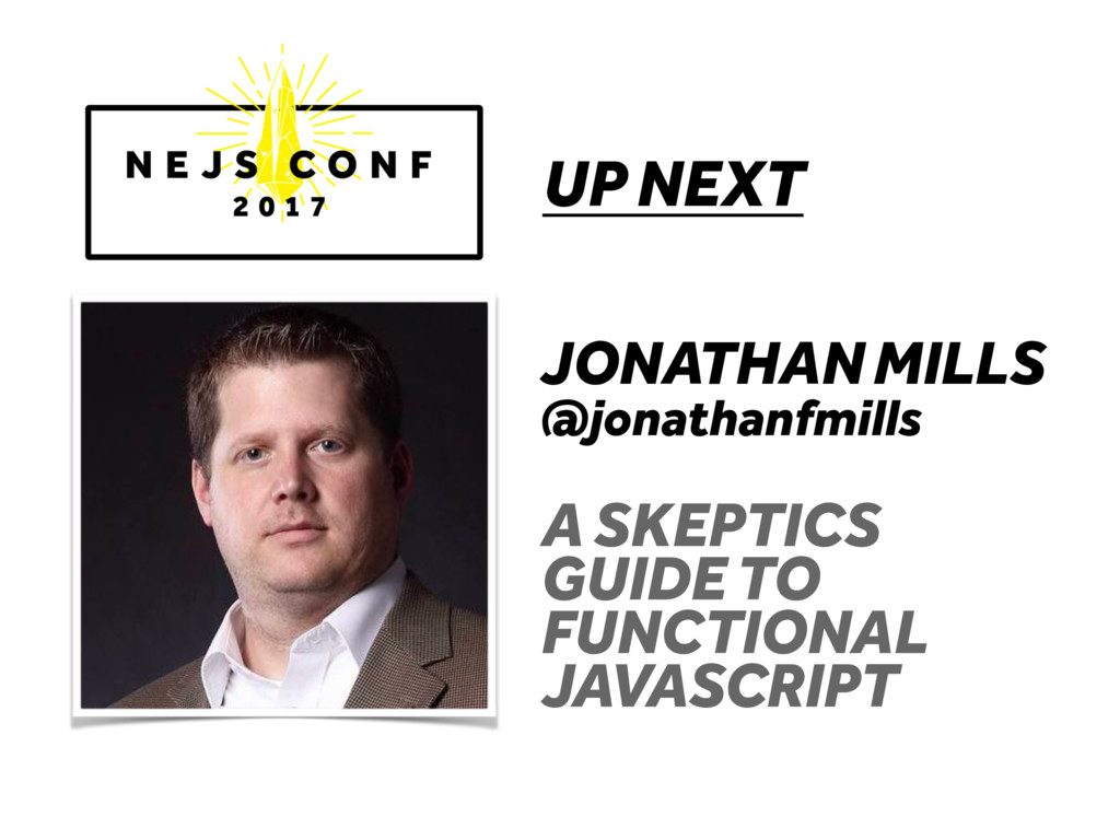 UP NEXT JONATHAN MILLS @jonathanfmills A SKEPTI...