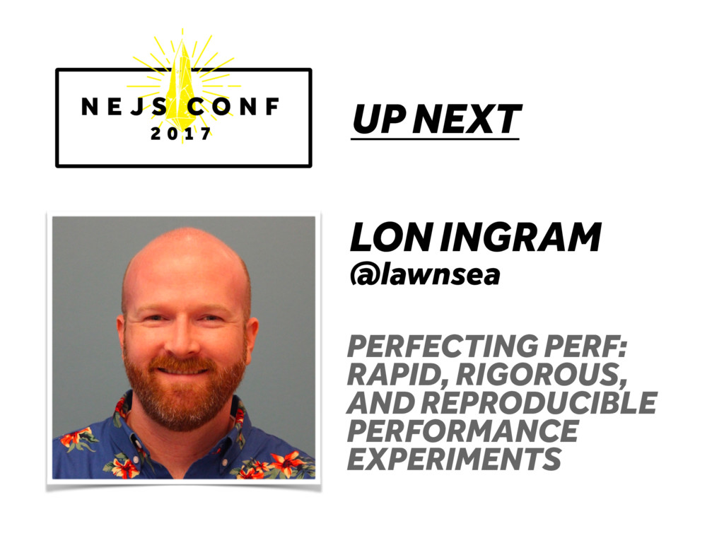 UP NEXT LON INGRAM @lawnsea PERFECTING PERF: RA...