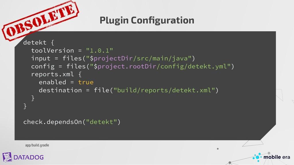 """detekt { toolVersion = """"1.0.1"""" input = files(""""$..."""