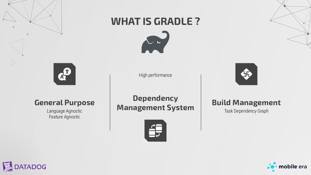 WHAT IS GRADLE ? General Purpose Language Agnos...