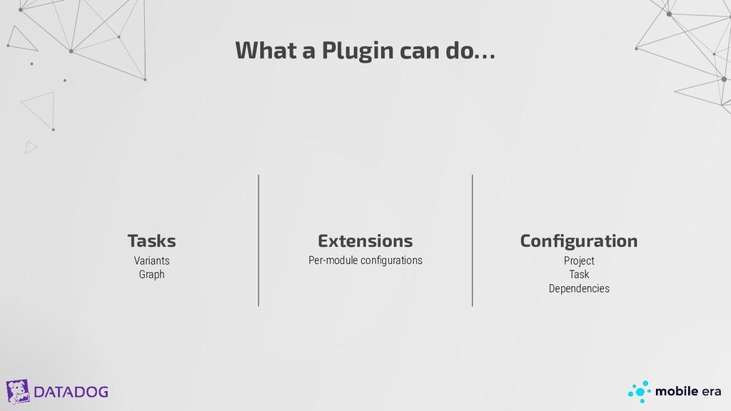Variants Graph What a Plugin can do… Tasks Exte...