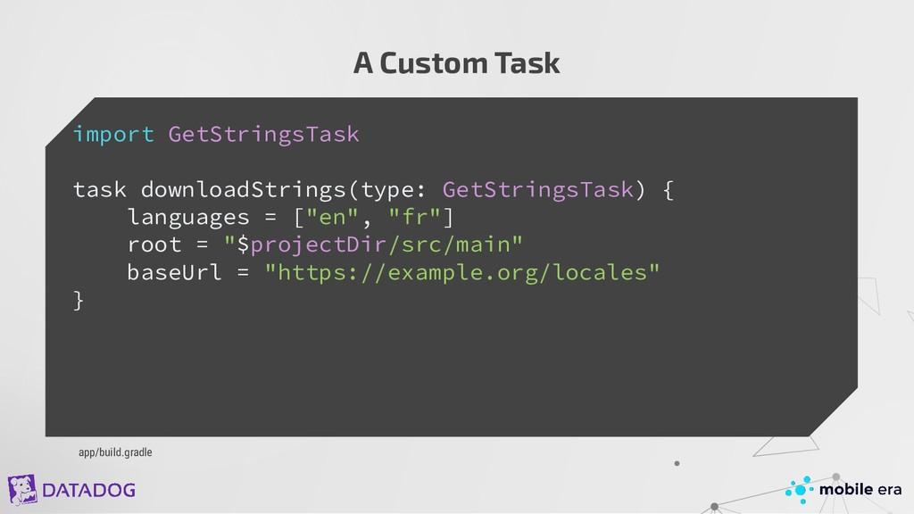 A Custom Task import GetStringsTask task downlo...