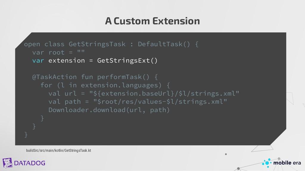 A Custom Extension open class GetStringsTask : ...