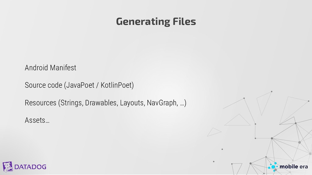 Generating Files Android Manifest Source code (...