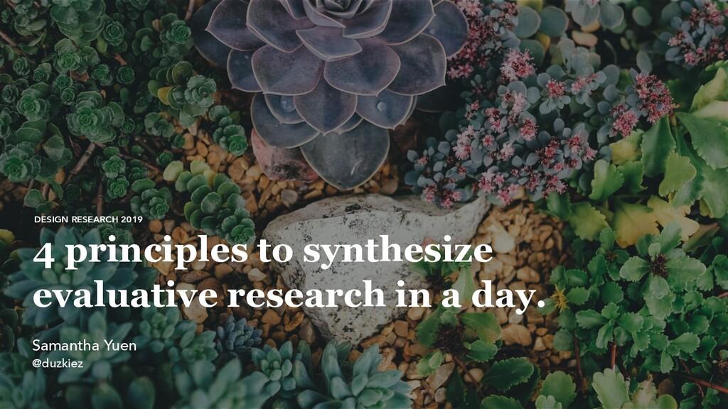 @ duzkiez 4 principles to synthesize evaluative...