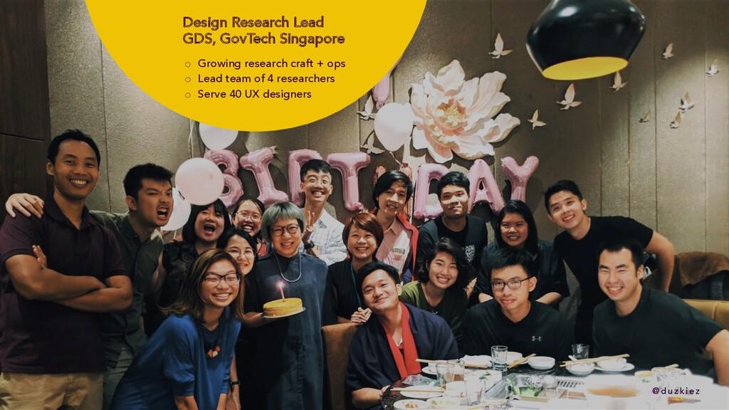 @ duzkiez @ duzkiez Design Research Lead GDS, G...