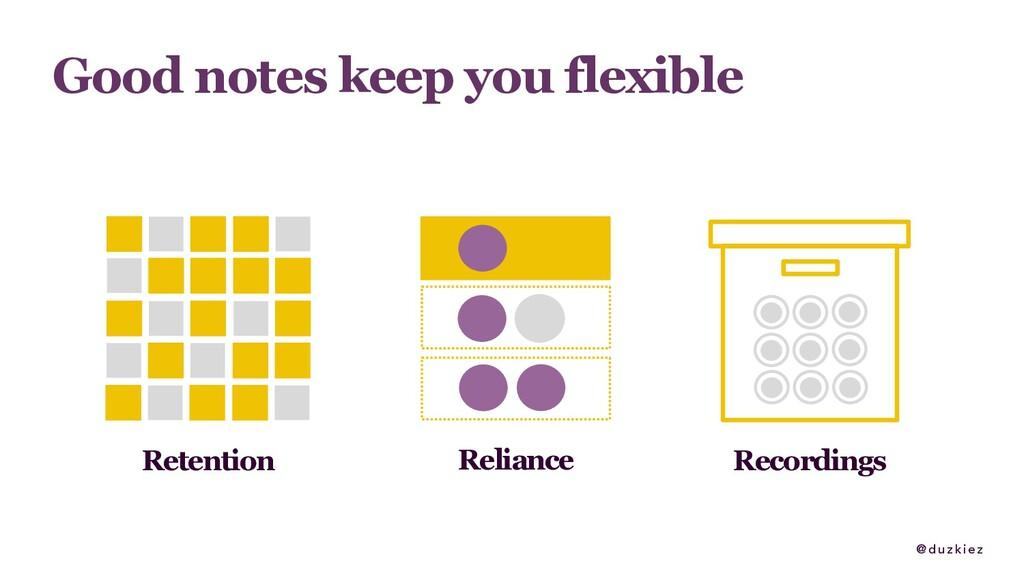 @ duzkiez Good notes keep you flexible Retentio...
