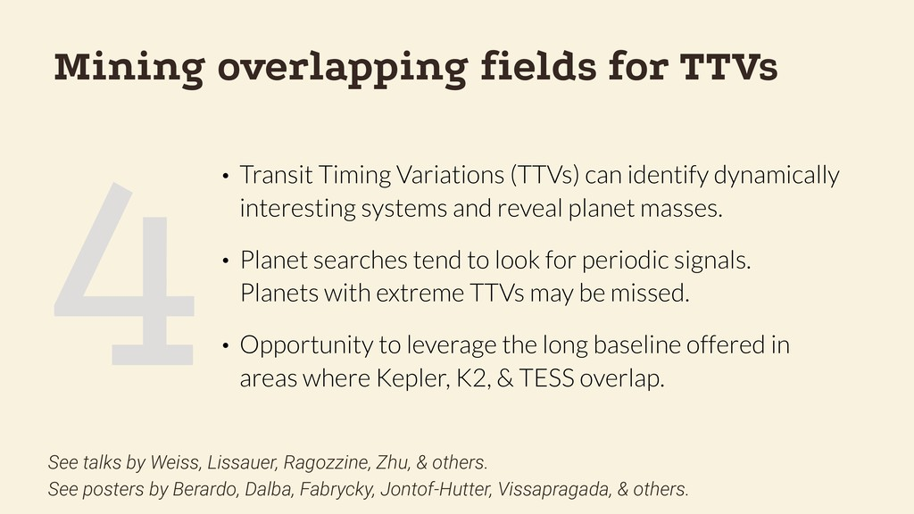 4 Mining overlapping fields for TTVs • Transit T...