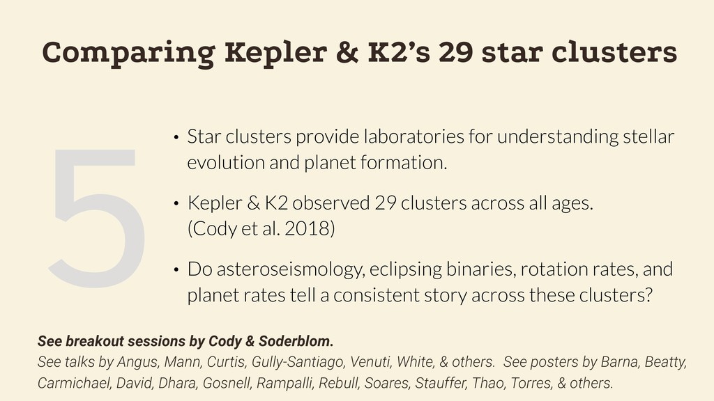5 Comparing Kepler & K2's 29 star clusters • St...