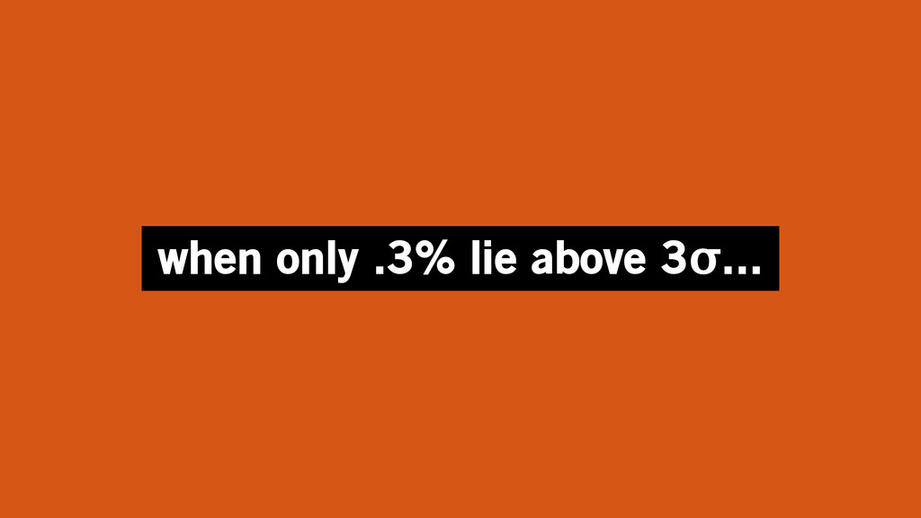 when only .3% lie above 3σ...