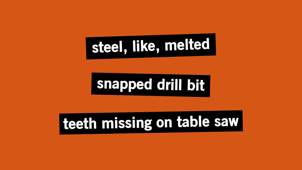 snapped drill bit teeth missing on table saw st...