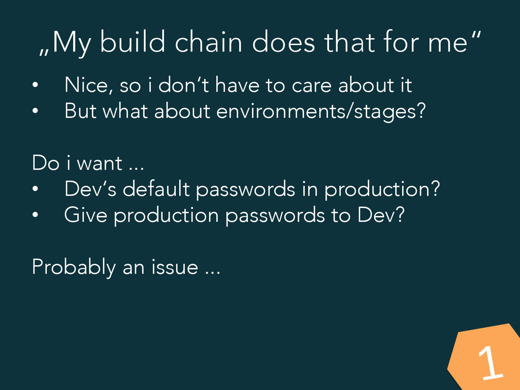 """""""My build chain does that for me"""" • Nice, so i..."""