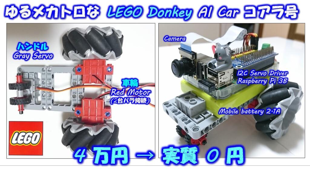 ハンドル Gray Servo 車輪 Red Motor (2台パラ接続) I2C Servo...