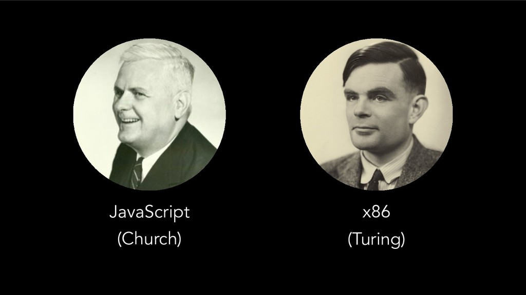JavaScript x86 (Church) (Turing)