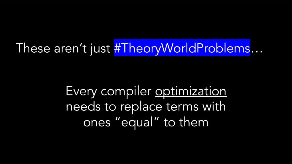 These aren't just #TheoryWorldProblems… Every c...