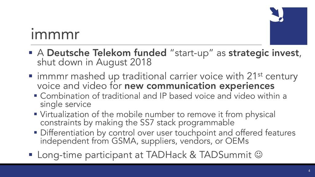"immmr § A Deutsche Telekom funded ""start-up"" as..."