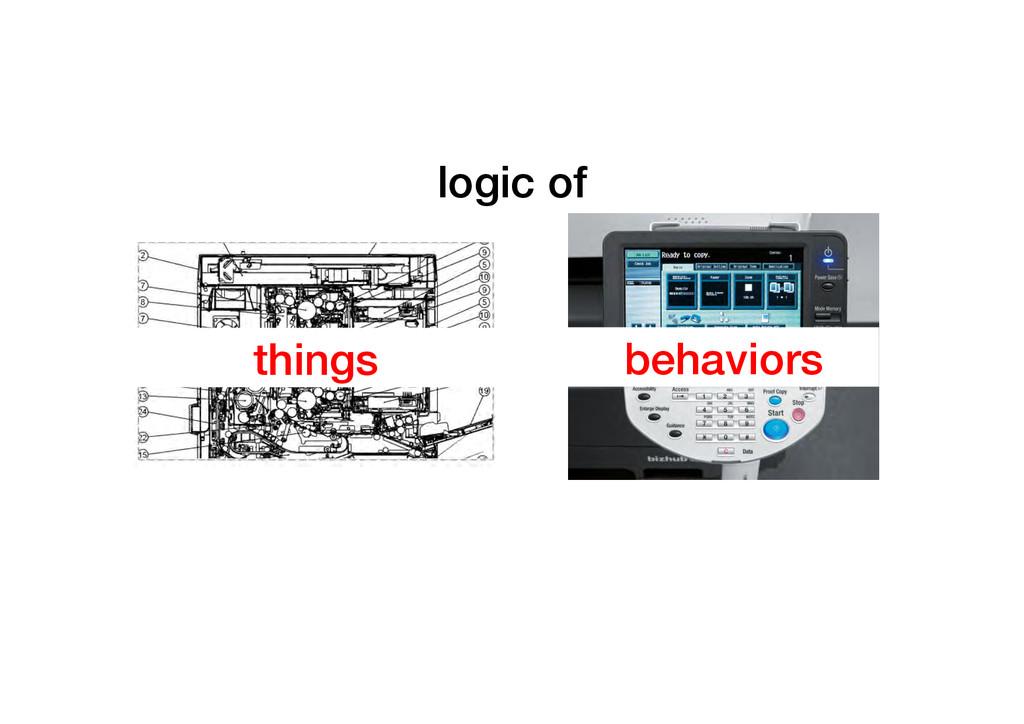 logic of ! things! behaviors!