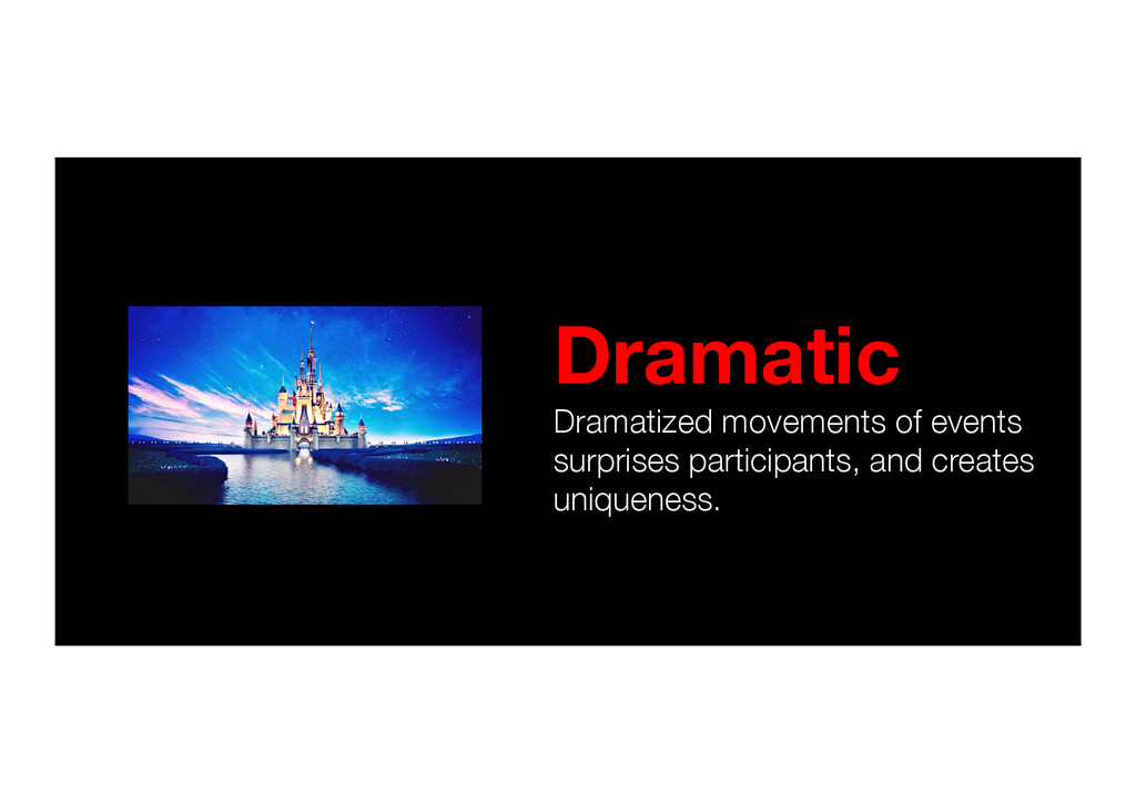 Dramatic Dramatized movements of events surpri...