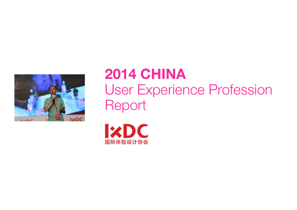 2014 CHINA  User Experience Profession Report