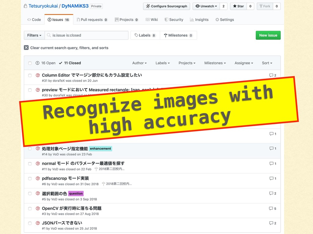 Recognize images with high accuracy