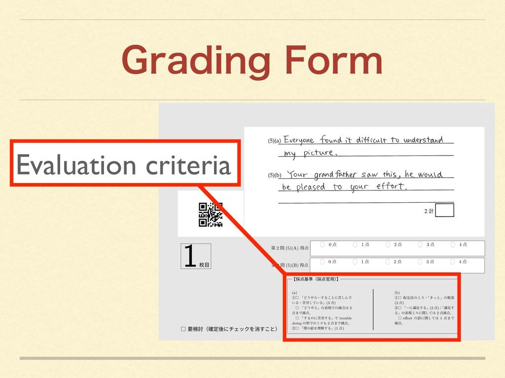 Evaluation criteria (SBEJOH'PSN