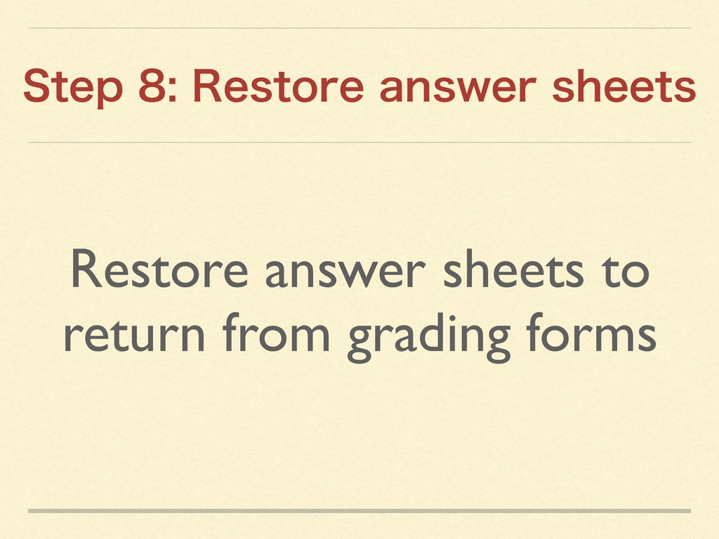 Restore answer sheets to return from grading fo...