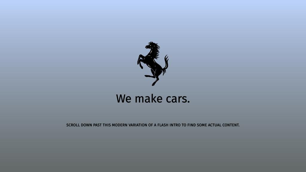We make cars. SCROLL DOWN PAST THIS MODERN VARI...