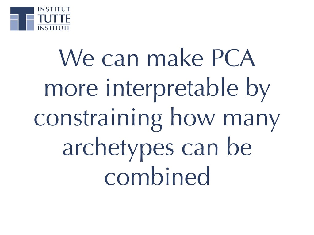 We can make PCA more interpretable by constrain...
