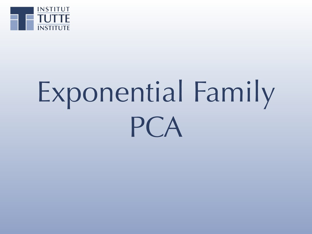 Exponential Family PCA