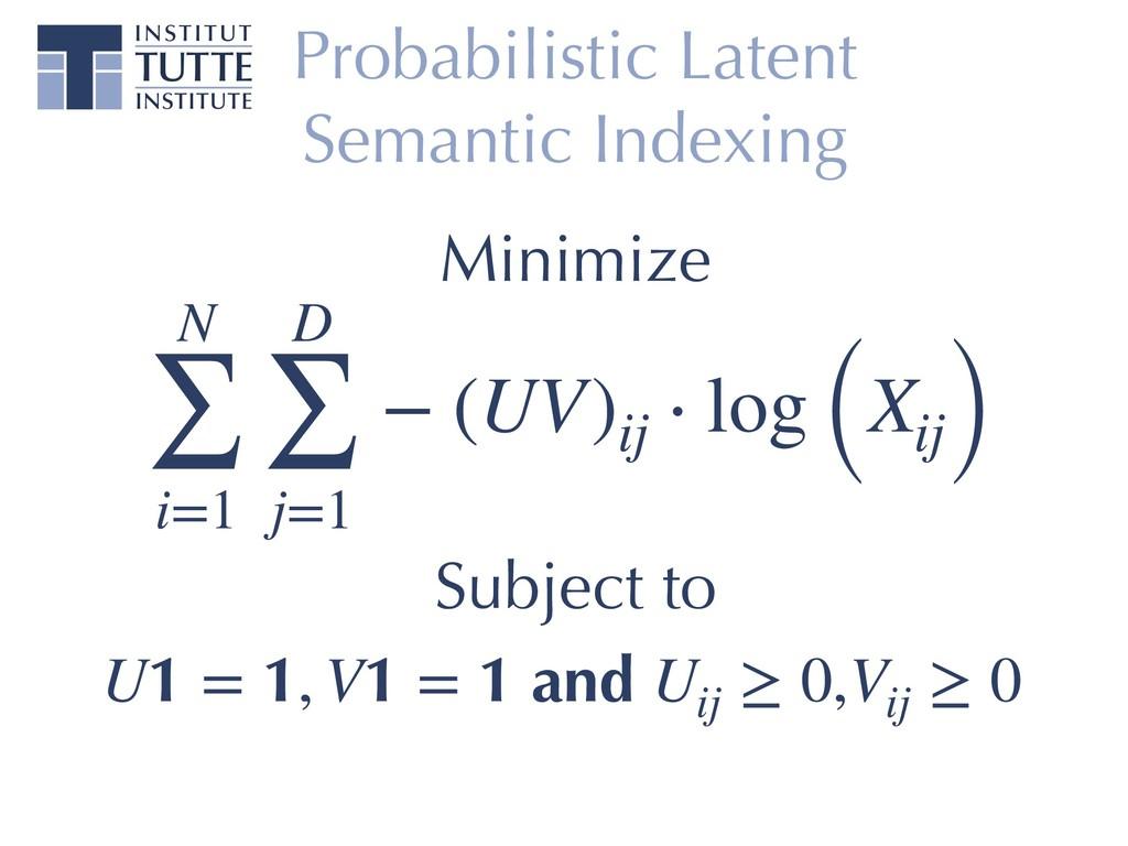 Probabilistic Latent Semantic Indexing N ∑ i=1 ...