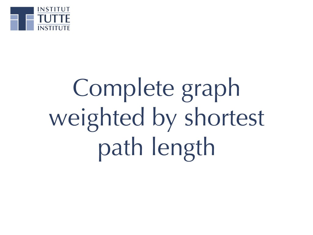 Complete graph weighted by shortest path length