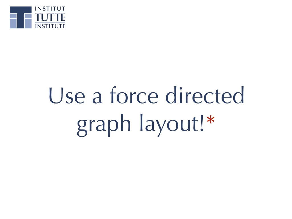 Use a force directed graph layout!*