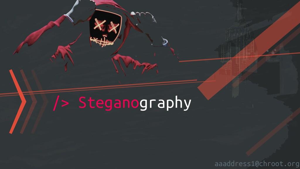 aaaddress1@chroot.org 〉〉〉/> Steganography