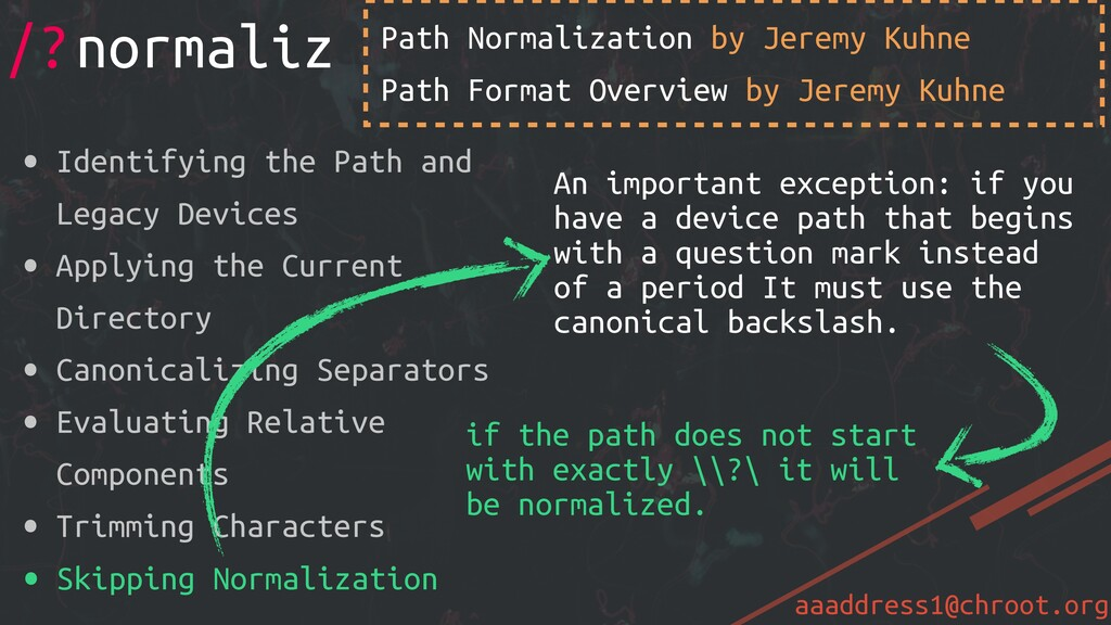 aaaddress1@chroot.org Path Normalization by Jer...