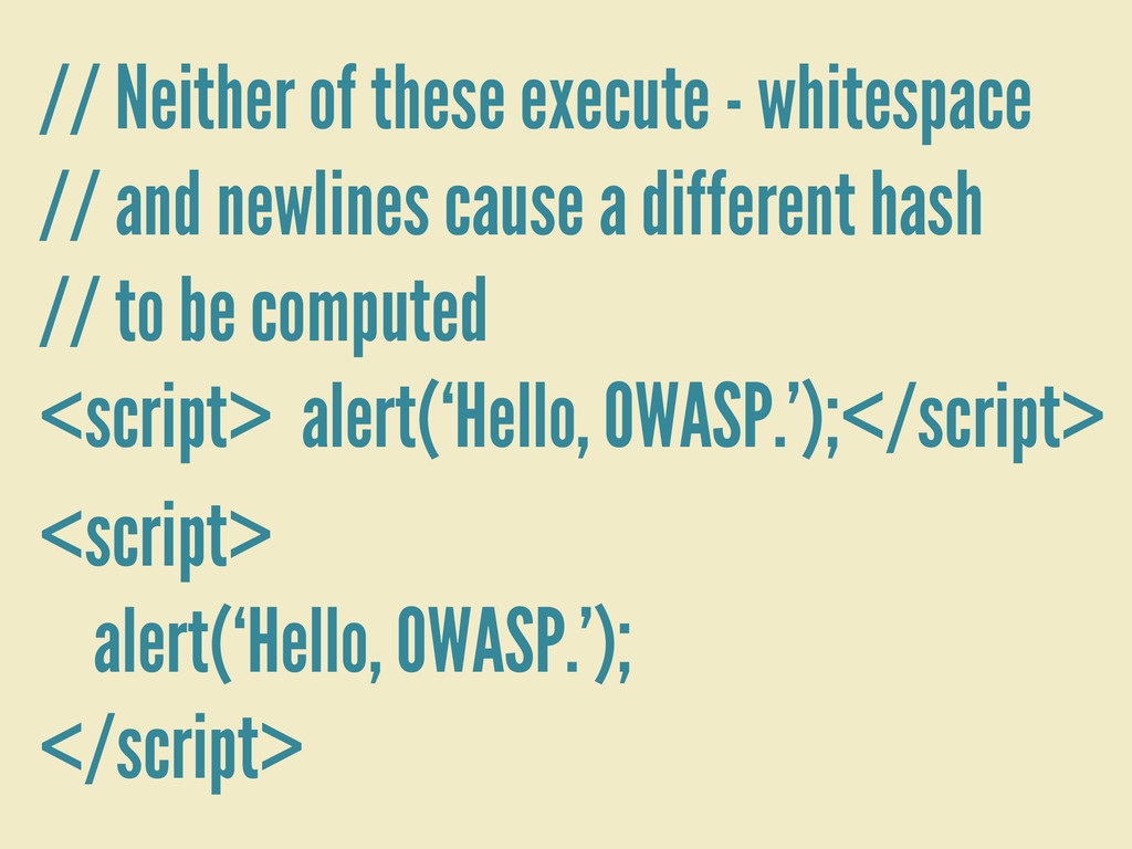 // Neither of these execute - whitespace // and...