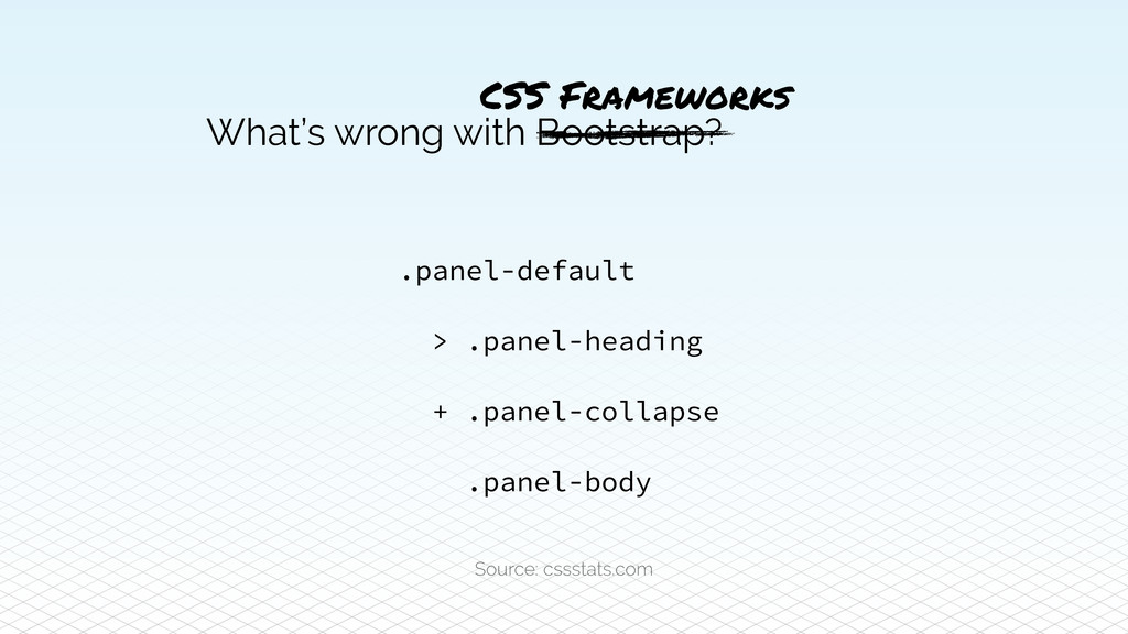 What's wrong with Bootstrap? .panel-default > ....