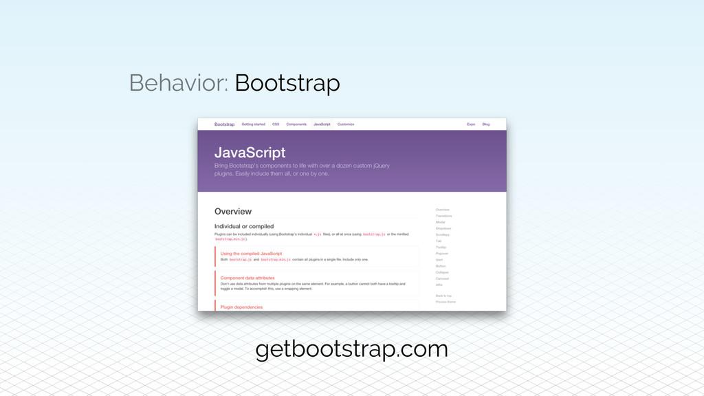 Behavior: Bootstrap getbootstrap.com