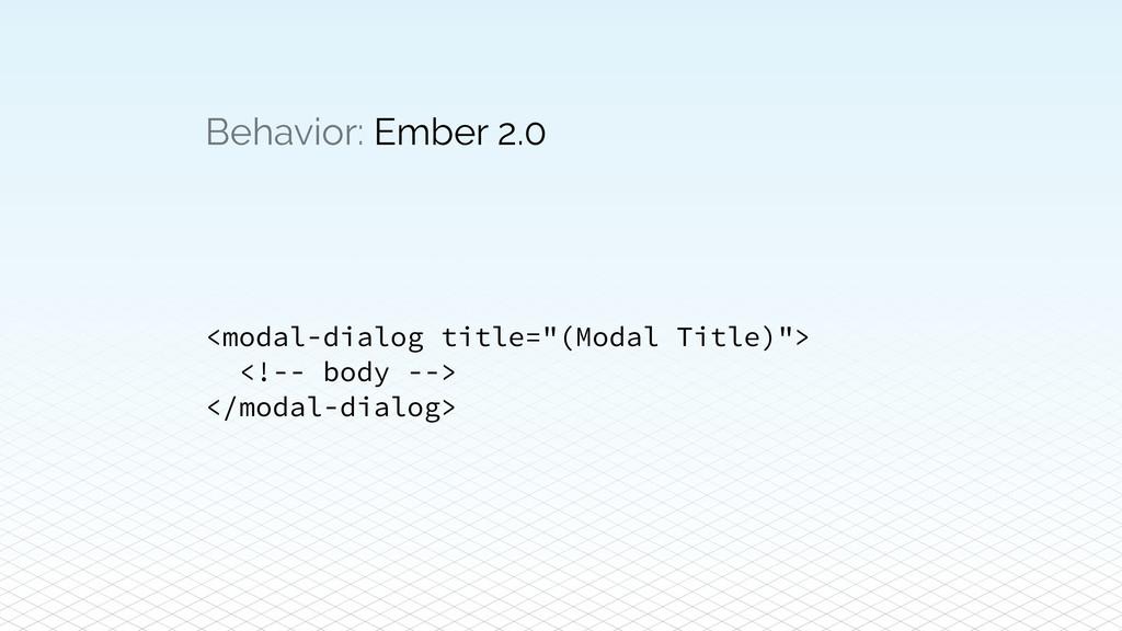 """Behavior: Ember 2.0 <modal-dialog title=""""(Modal..."""