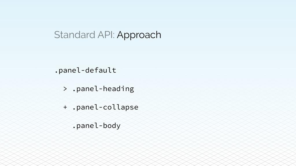 Standard API: Approach .panel-default > .panel-...