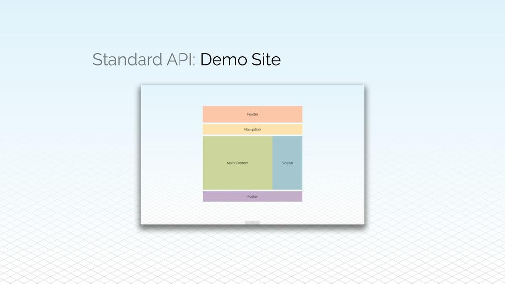 Standard API: Demo Site