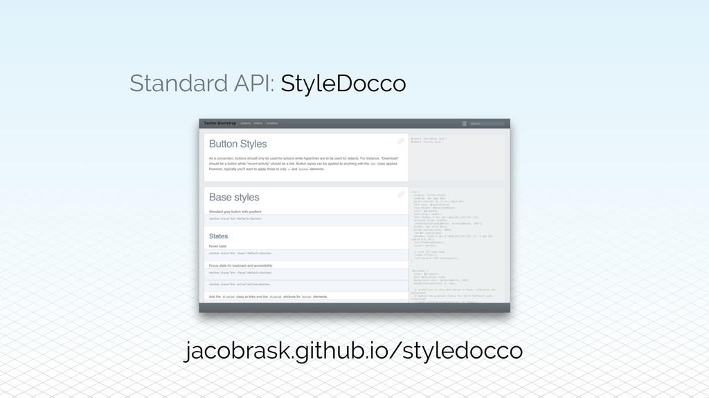 Standard API: StyleDocco jacobrask.github.io/st...