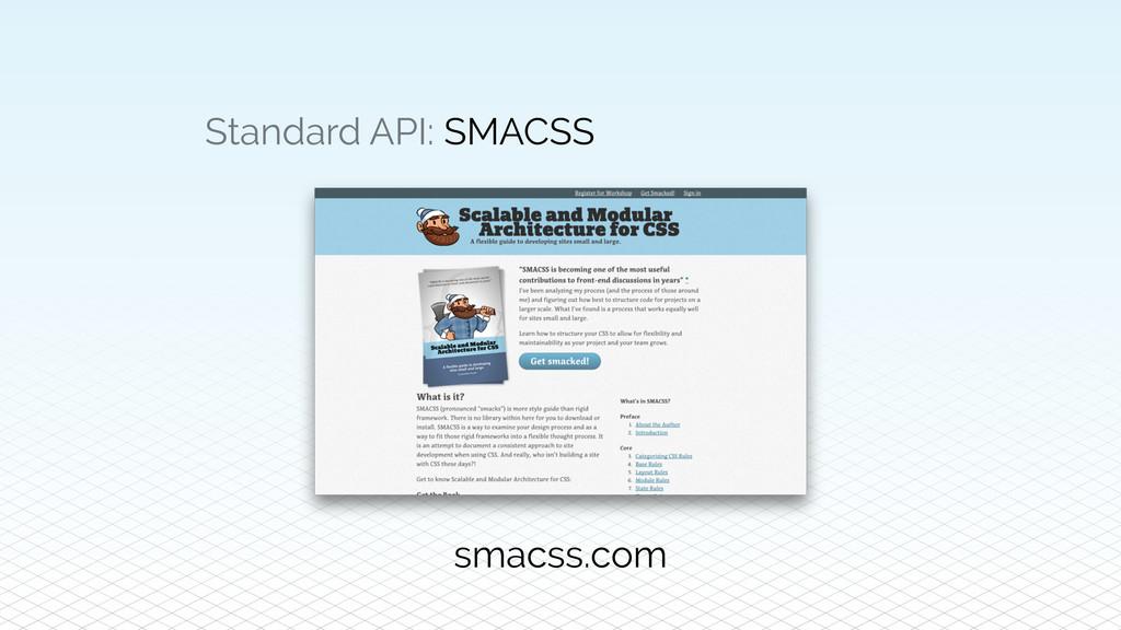 Standard API: SMACSS smacss.com