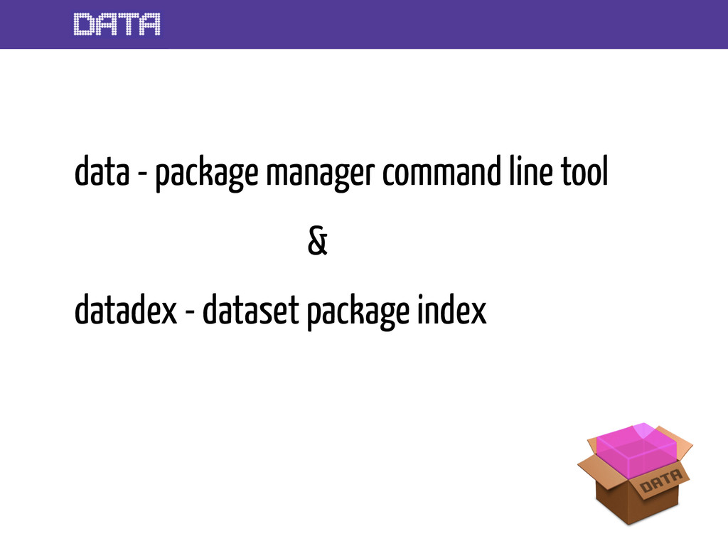 data - package manager command line tool & data...