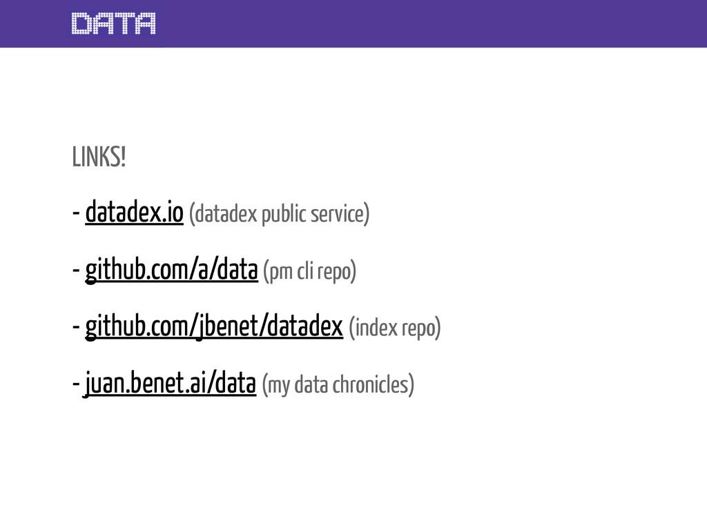 LINKS! - datadex.io (datadex public service) - ...