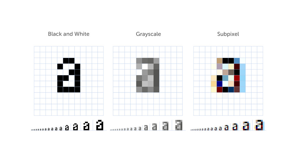 Black and White Grayscale Subpixel